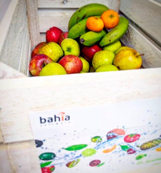 caja con fruta