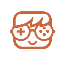 icono muñeco con gafas